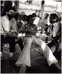 George Lucas, Steven Spielberg et François Truffaut sur le tournage de Rencontres du 3e type