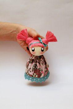 ♥ Textile brooch Totti by DollsLittleAngels on Etsy, $13.00