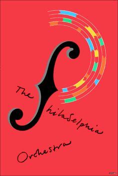 Milton Glaser, poster The Philadelphia Orchestra