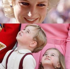 Awww cute and precious Princess Diana looking down at her grandkids and they're looking up at her Prince William Family, Prince William And Catherine, William Kate, Duchess Kate, Duke And Duchess, George Of Cambridge, Diana Memorial, Princess Diana Fashion, Princesa Kate