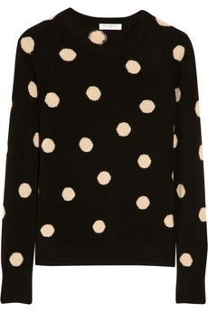 Equipment Sloane polka-dot cashmere sweater | THE OUTNET