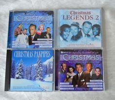 4 Christmas Music CDs Sinatra Crosby Nat King Cole Pan Pipes VGC Free UK Post