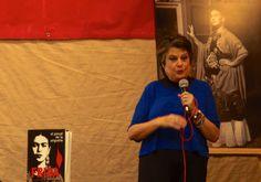 Frida Kahlo: mujer de personalidad fuerte y adictiva. En la conferencia A flor de piel, la investigadora Martha Zamora da a conocer parte del contenido de su libro El pincel de la angustia, pasajes sustentados y documentados en torno a la vida de Frida Kahlo, ícono y leyenda de la cultura mexicana. Foto: Adriana Pelcastre