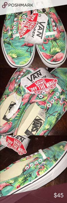 Flamingo Vans with tags Brand new, never worn, tags still on. Size 6.5 men and 8 women's. Perfect condition. Serious offers let me know, I'm flexible. Vans Shoes Sneakers