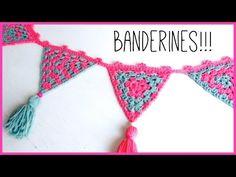 Guirnalda de Banderines (triángulos) a CROCHET PASO A PASO, My Crafts and DIY Projects