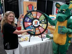 Thanks to everyone who came out to see Dear Dragon & spin our prize wheel! It's been a great conference! #txla15 -- Buy this Prize Wheel at http://PrizeWheel.com/products/tabletop-prize-wheels/table-clicker-prize-wheel-12-24-slot-adaptab/.