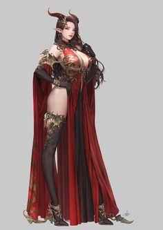 Daeho-Cha [League of Angels - Fire Dragon Fantasy Girl, Chica Fantasy, Dark Fantasy Art, Fantasy Women, Anime Fantasy, Fantasy Artwork, Beautiful Fantasy Art, Beautiful Anime Girl, Fantasy Character Design