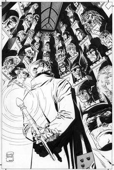 "Hugo Strange's Trophy Wall by Eduardo Barreto, in Chris C's ""Trophy Wall"" Themed Commissions 4 Comic Art Gallery Room Hugo Strange, Best Villains, Comic Art, Comic Book, Riddler, Detective Comics, Nightwing, Amazing Spider, Dark Knight"