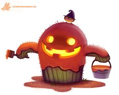 Daily Paint : Cact-o-lantern by Cryptid-Creations.deviantart.com