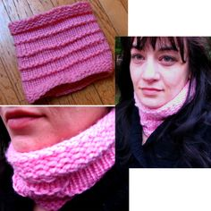 Pink Cowl knit with the Martha Stewart Knit & Weave Loom Kit from Lion Brand.  I cast off too tight but I think it still works ok.  Next try on this project I am increasing the loom size and taking care with casting off without pulling too tight. http://www.lionbrand.com/patterns/L0326.html   #imadethis