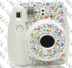 Camera Body Decoration Sticker For Fujifilm Polaroid Instax Mini8 Flower White | eBay