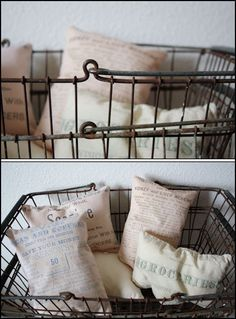 Vintage farmers market basket- for pillow case sets to sell Farmers Market Display, Market Baskets, Vintage Wire Baskets, Metal Baskets, Country Chic, Farmhouse Style, Home Accessories, Decoration, Shabby Chic