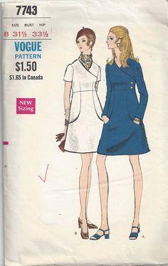 Vogue Dress 60's Sewing Pattern Vintage 60's Ladies by DurhamDeals