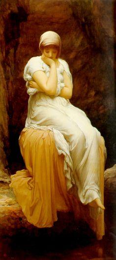 kasasagi51:  dreaminginthedeepsouth:    crashinglybeautiful:    liquidnight:    Frederic Leighton - Solitude, 1890  [click the image to see a larger version]
