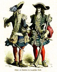 Officer and Musketeer of the French Guard