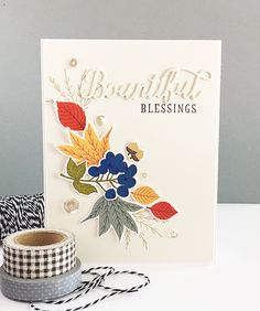 Bountiful Blessings Card by Danielle Flanders for Papertrey Ink (August 2016)
