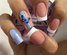 Short Nails, Erika, Manicure, Stickers, Bling Nails, Pretty Nails, Short Nail Manicure, Nail Manicure, Polish Nails