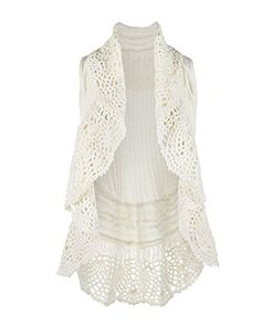 Women's Sweater Vests - COCO  CARMEN WOMENS CROCHET COLLAR CABLE KNIT VEST *** Check this awesome product by going to the link at the image.