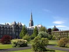It is a beautiful day at National University Ireland, Maynooth today with clear blue skies! Clear Blue Sky, Blue Skies, Modern Buildings, I School, Study Abroad, Beautiful Day, Barcelona Cathedral, Ireland, University
