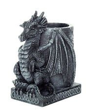 """Desk Top Decor Gothic Ancient Guardian Dragon Utility Holder 4.5"""" Tall"""