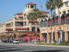 Downtown Huntington Beach - I miss the old Huntington! Used to be dirt lots, a Popeye's Burger and Golden Bear club where all these new mall-like buildings are...
