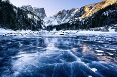 Winter on Dream Lake by DavidSoldano. Please Like http://fb.me/go4photos and Follow @go4fotos Thank You. :-)