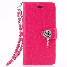 For iPhone 6 Floral Case Fashion Luxury Diamond Stone Wallet Leather Case for iPhone 6 4.7 inch Card Holders Stand Flip Cover