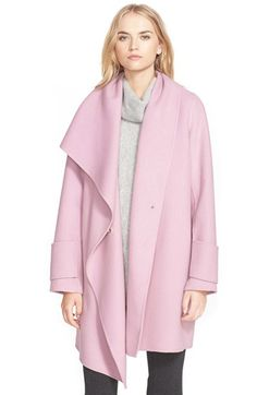 Free shipping and returns on Vince Drape Front Wool Coat at Nordstrom.com. <p>Fine double-faced wool is crafted into a classically refined coat modernized by a dramatic, draping waterfall front. An easy, flattering fit and hidden-snap closure give this piece a clean, elegant character that will stand the test of time.</p>