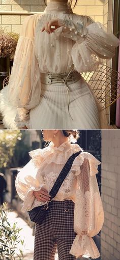 Elegant Sweet Lace Tops For Woman Pretty Outfits, Pretty Dresses, Cute Casual Outfits, Trend Fashion, Fashion Design, Vetement Fashion, Character Outfits, Mode Outfits, Looks Cool