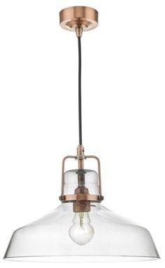Bathroom Lights Debenhams miles copper metal and glass pendant light | debenhams, ceiling