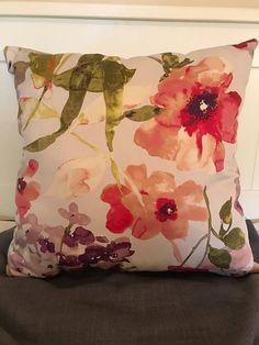 Romantic Pink Floral Throw Pillow decorative pillows pink
