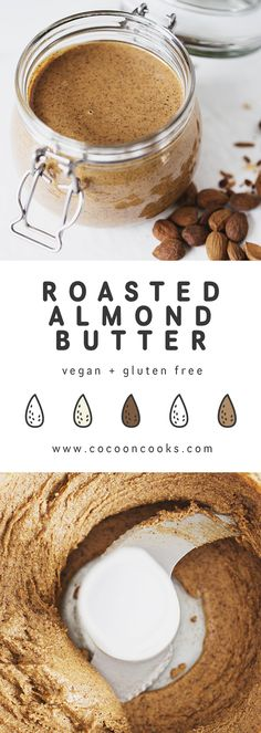 Almond Butter Learn how to make this absolute must in every vegan pantry!Learn how to make this absolute must in every vegan pantry! Snack Recipes, Cooking Recipes, Healthy Recipes, Diet Recipes, Vitamix Recipes, Fodmap Recipes, Healthy Options, Tofu, Roasted Almonds