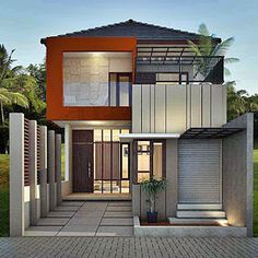 minimalist home design 2 floors ajib - Lampung interior house House Design Pictures, Modern House Design, Beach Interior Design, Interior Modern, Drawing Room Design, Modern Minimalist House, Minimalist Design, Latest House Designs, Storey Homes
