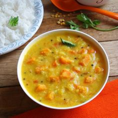Carrot Kootu - a comforting and healthy curry using carrots and lentils and flavored with coconut.