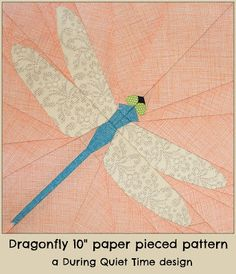 Dragonfly Paper Pieced Pattern etsy
