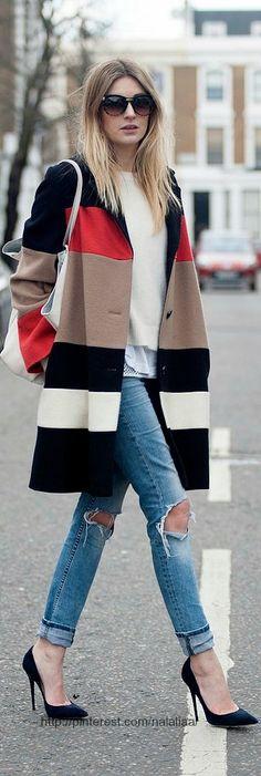 Street style Jeans ♥ Jaeger London coat ..Sloane style ✔BWC