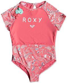 ce59d0b6f5d2d Roxy Little Girls Rash Guard Swimsuit & Reviews - Swimwear - Kids -  Macy's Little