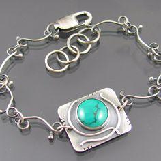 Turquoise vine chain bracelet by Nikki.