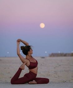 Moonlit yoga