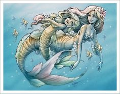 Playful mermaids #mermaidart