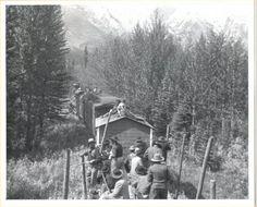 Canadian Pacific 1949 Movie Black White Movie Still Men on Train Awaiting Ambush, $12.95