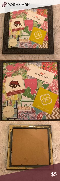 Homemade preppy collage Cute for a dorm room. Hangs on wall or can be used for desk decor Lilly Pulitzer Other