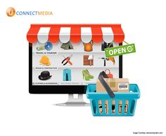 Build your #eCommerce_Website and reach to more consumers..  #U_Connect_Media