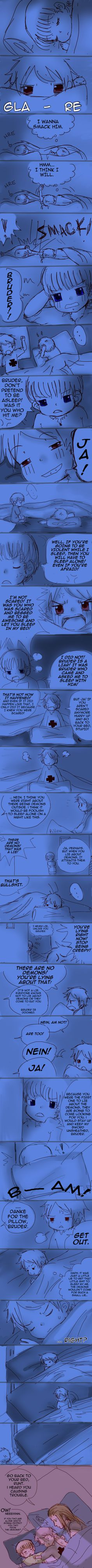APH: Don't lie about Demons by Assby.deviantart.com on @deviantART - Aw...this is really funny: Gilbert and HRE trolling each other when they were kids. :P