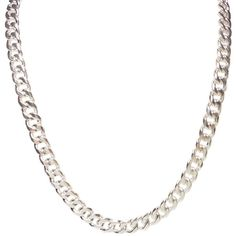Necklace Mens 10mm Stainless Steel Silver Tone30 Inch Curb Chain... ($30) ❤ liked on Polyvore featuring men's fashion, men's jewelry, men's necklaces, mens necklaces, mens stainless steel necklace, mens silver necklace, mens watches jewelry and mens silver curb chain necklace