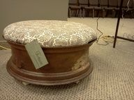 Upcycled Tire Rim Turned Ottoman