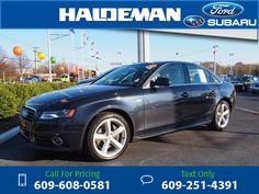 2012 Audi A4 2.0T quattro Premium Plus Black $17,684 64951 miles 609-608-0581 Transmission: Automatic  #Audi #A4 #used #cars #HaldemanFord #HamiltonSquare #NJ #tapcars