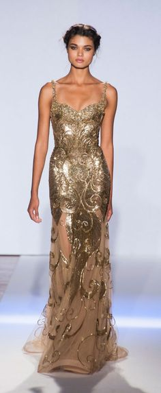 Zuhair Murad Gold Wedding Dress