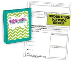 how to create a guided math binder - KindergartenWorks