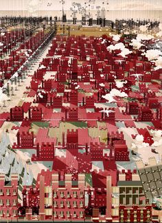 Detailed and humorous architectural illustrations imagine what this brave new capital might look like. Axonometric Drawing, Bartlett School Of Architecture, Architecture Collage, Architecture Visualization, Architecture Student, Architecture Drawings, Masterplan Architecture, Thesis, Perspective Drawing